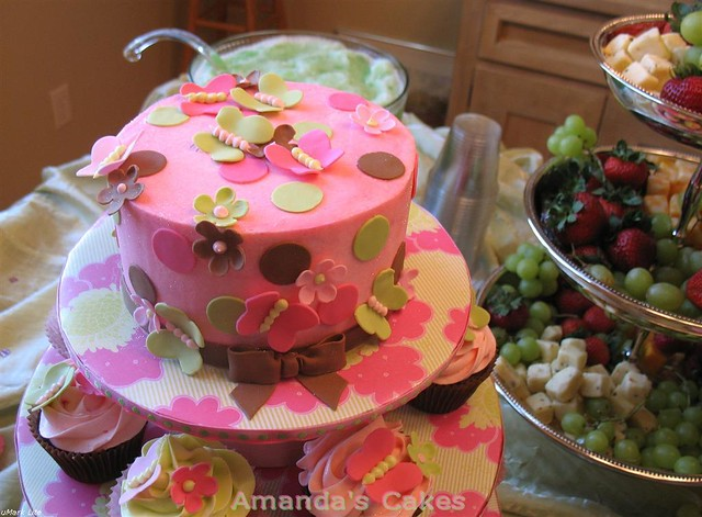 Baby Girl Harrison Butterfly Cakes