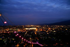 Maribor at Night from Piramida Hill