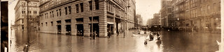 Flooded Fifth & Liberty St. intersection, Pittsburgh, Pennsylvania, 1907