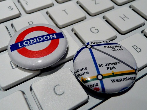 London underground buttons