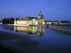 Chantilly Castle by night - France (Chantilly)