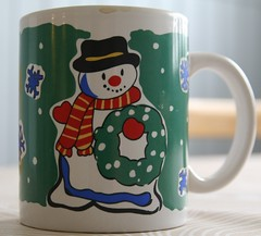 art(1.0), cup(1.0), drinkware(1.0), mug(1.0), ceramic(1.0), blue(1.0), snowman(1.0),
