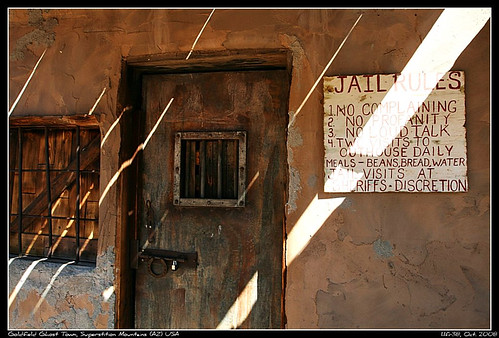 Goldfield Ghost Town - Jail Rules