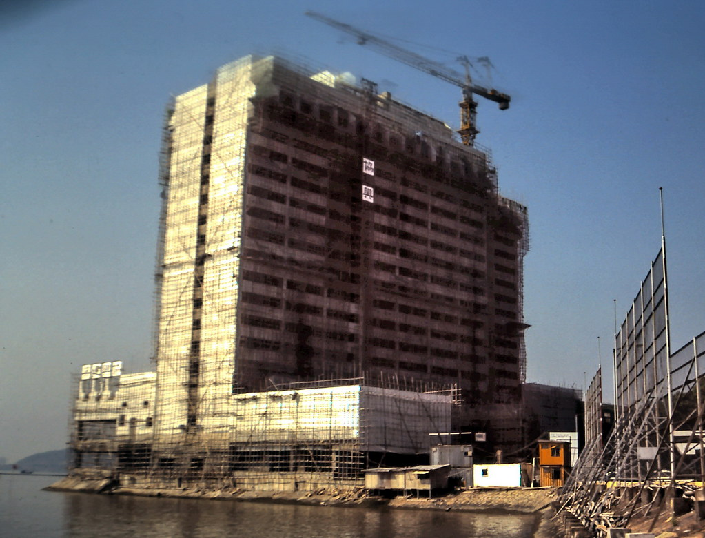 gm 02832 Waterfront Hotel Construction in Macau 1983