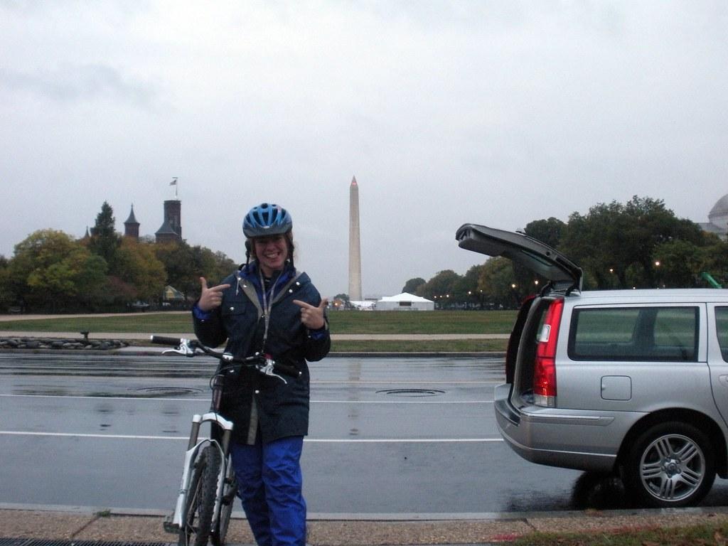 Julia Psyched for Bike DC Despite the Rain