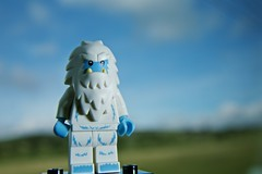 Abominable snowman LEGO minifig heads north for the spring