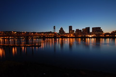Portland Riverfront at Dusk