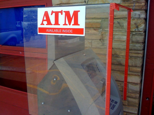 ATM Available Inside ... This Clear Enclosure