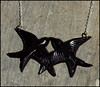 Black Swallow Necklace If pairs are