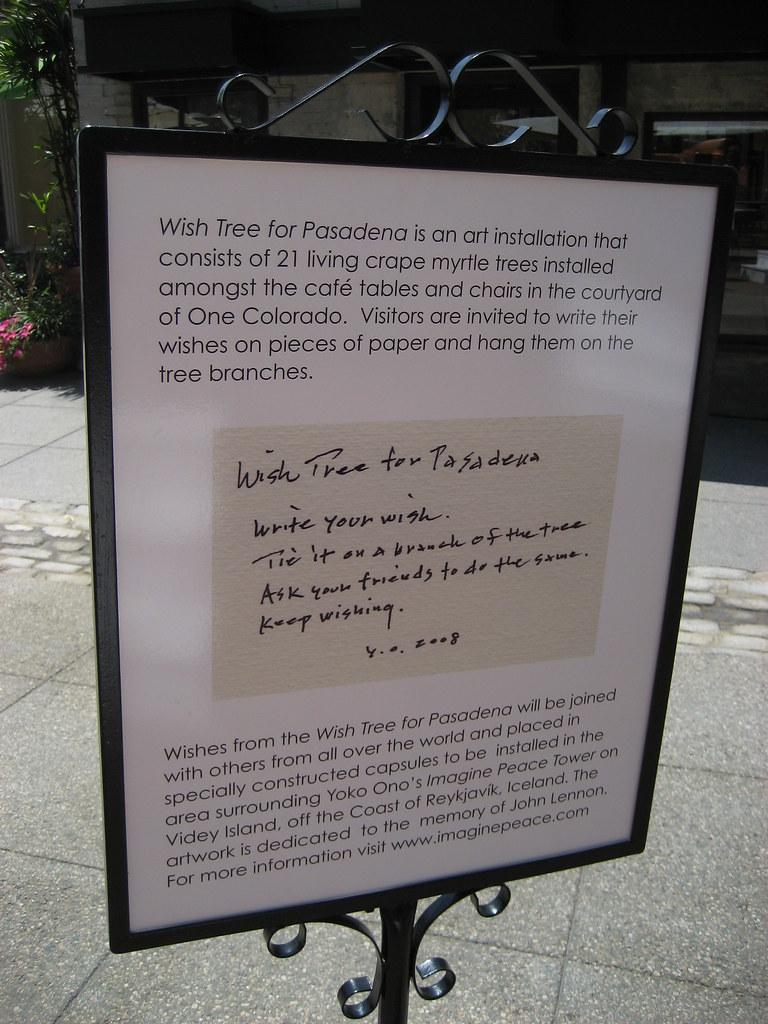 Wish Tree for Pasadena