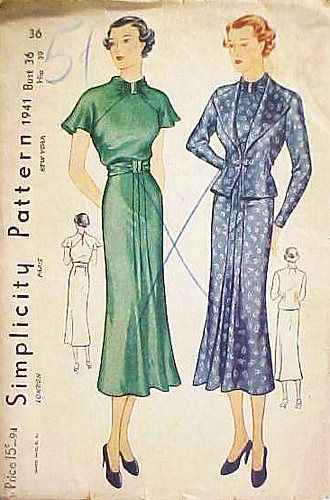 simplicity dress 1941