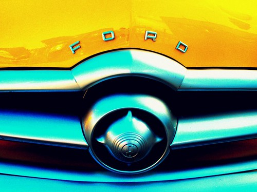 Retro Yellow Ford