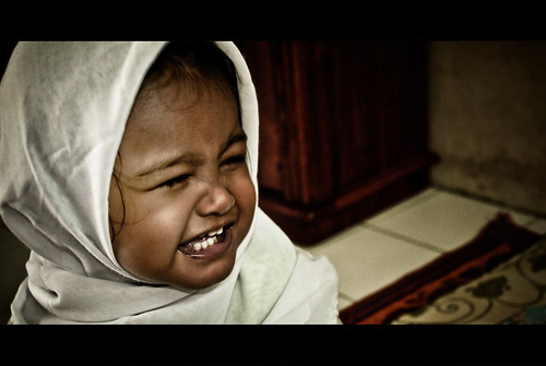 13 September 2008: My Sweet Little Love Learned to Wear the Hijab...