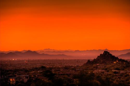sunset night az clear scottsdale hdr photomatix platinumphoto goldstaraward 2008101300070