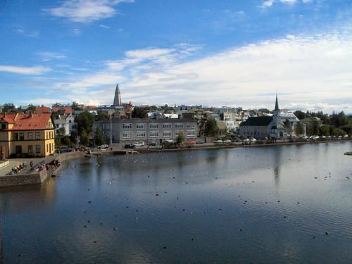 Tjörning, plan d'eau au centre Reykjavik