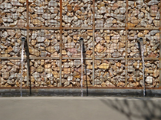 rusted gabion wall flickr photo sharing. Black Bedroom Furniture Sets. Home Design Ideas