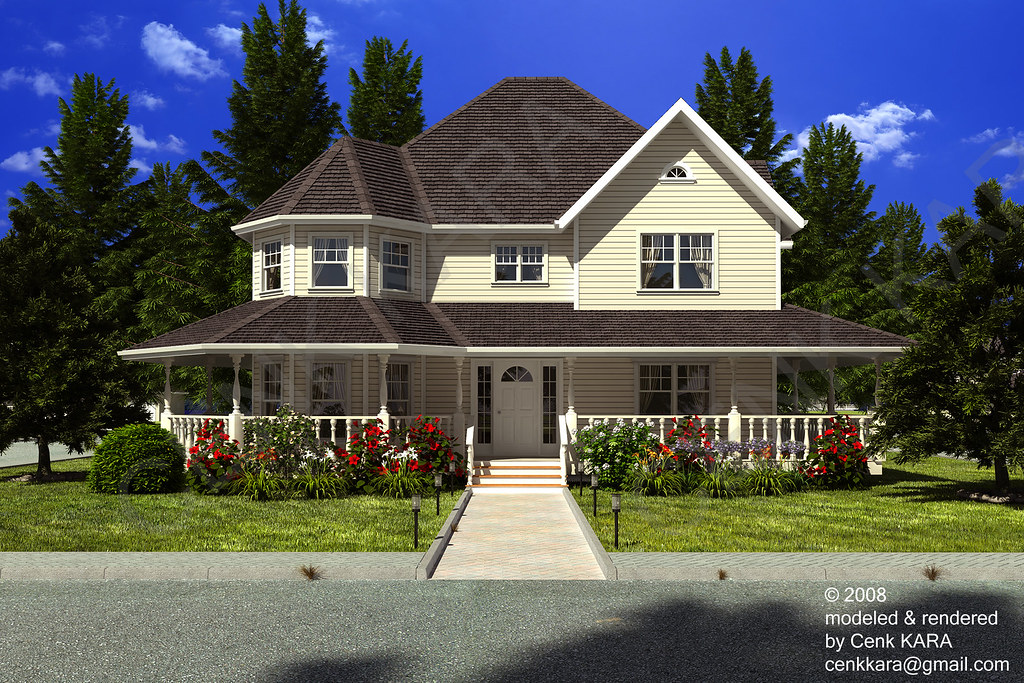 Victorian Style Home Rendering Exterior House Flickr