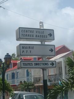 Directional Signs, Marigot, Saint Martin, F.W.I.