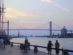 Talmadge Memorial Bridge, River Street, Savannah Ga, Vacation, Historical District
