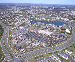 Aerial view of Ashburn Village