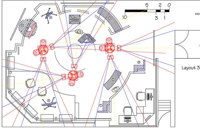 Nasa gsfc science studio camera layout flickr photo for Photography studio floor plans