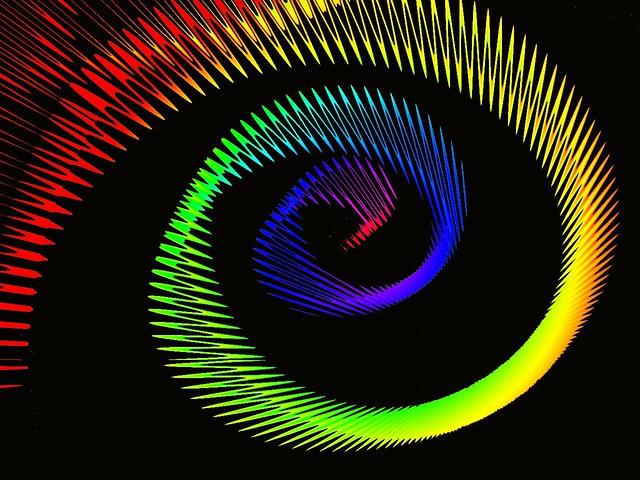 Rainbow glas spiral