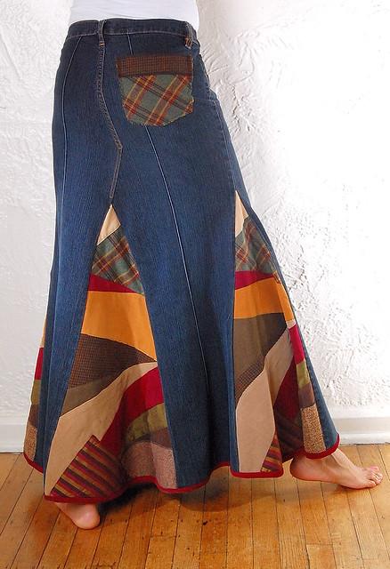 Переделка из джинсов юбка