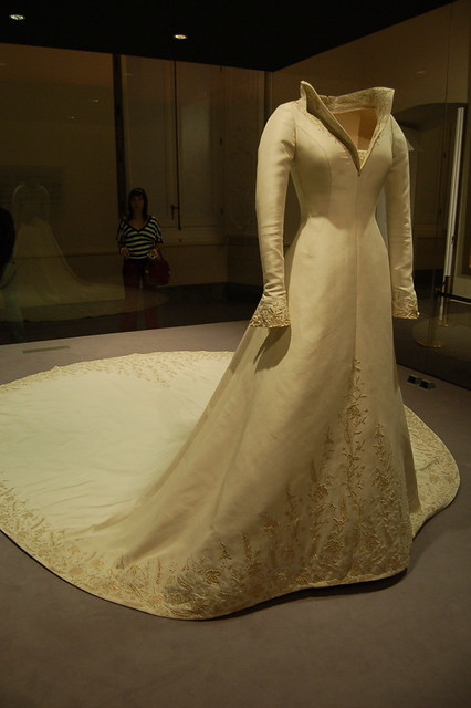 Photo:Wedding Gown used by Queen Letizia - Palacio Real de Aranjuez - Museo de la Vida en Palacio By twiga-swala