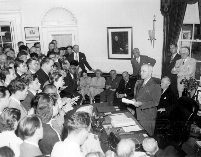 President Truman announces Japan's surrender