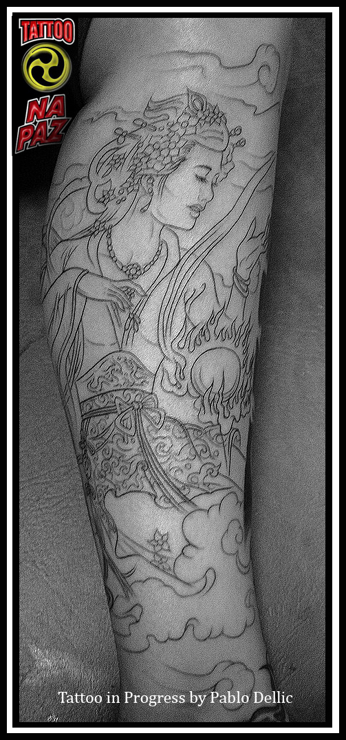 tatuagem de gueixa orientalGueisha tattoo by Pablo Dellic