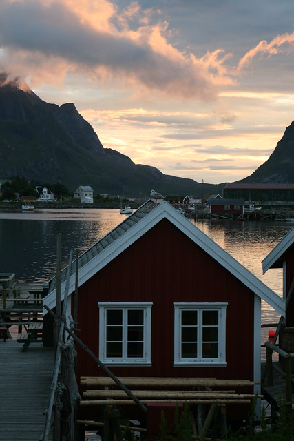 Midnight Sun on Reine Fjord