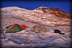 Best camping tent, Sunrise on the Summit from Base Camp