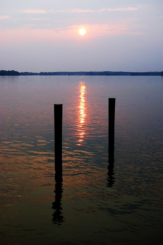 sunset water silhouette creek bay dock horizon maryland easternshore