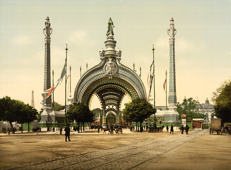 Grand entrance, Exposition Universelle, Paris, France, 1900