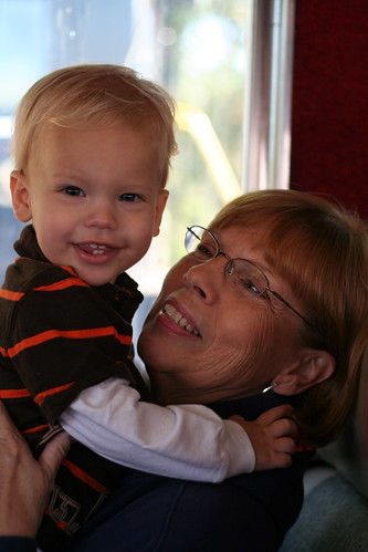 Eli and Grammy on the Train