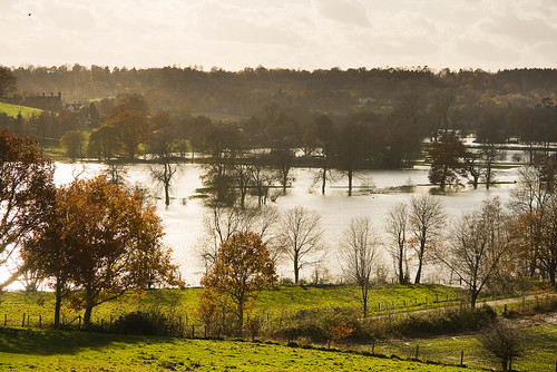 A flooded River Medway