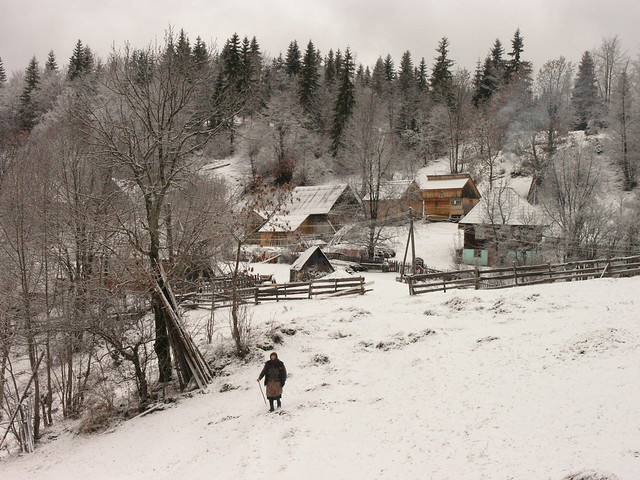 Iarna pe lângă uliţă