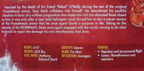Heroes Reborn Iron Man (description)