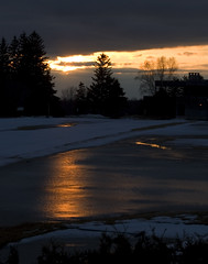 Sunset over Cataraqui Golf and Country Club