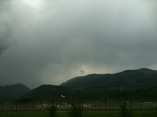 mountains rain driving slovenia