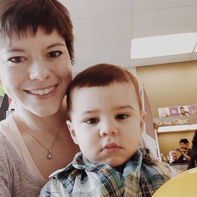 Post Luther' 1st Haircut  #instaluther #haircut #toddler