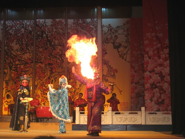 Fire breathing at the Sichuan Opera