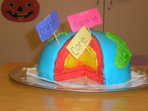 Earth Layers Project Cake
