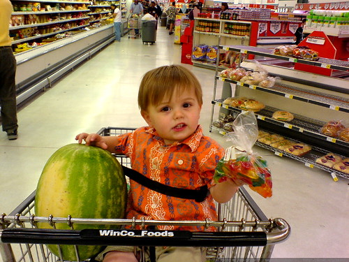 all i need is this watermelon. and these gummi jet airplanes. that's all i need. let's go home.   DSC01283