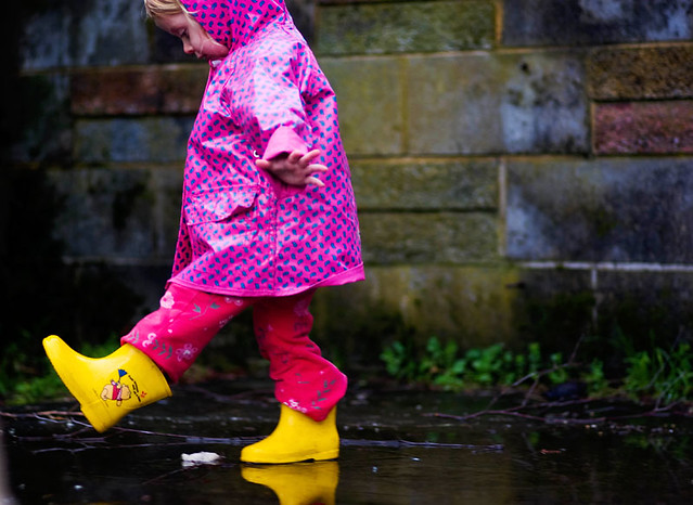 puddle fun, for Isa :-)