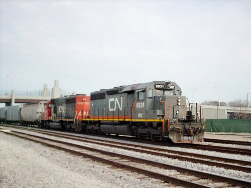 Westbound Canadian National transfer train. Chicago Illinois. March 2007. by Eddie from Chicago