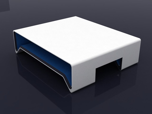 Center Table Simple White Black And Blue Furniture