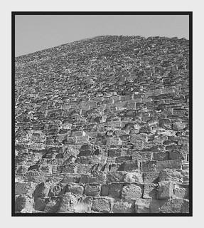 Image of Pyramid of Khufu near Muḩāfaz̧at al Jīzah. stone pyramid egypt giza khufu