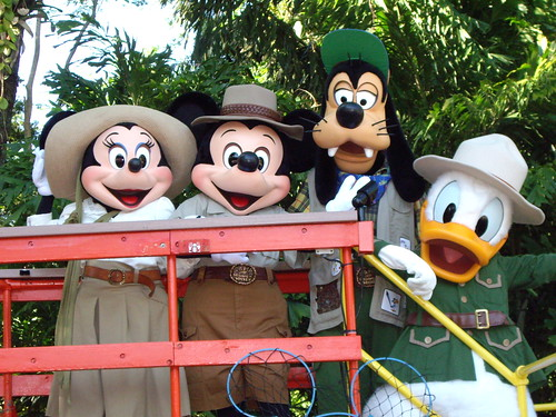 Minnie, Mickey, Goofy and Donald
