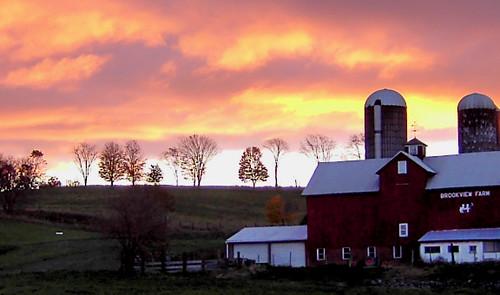 morning sunrise dawn farm ridgeline brookviewfarm